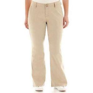 Arizona Women's Khaki Bootcut Pants